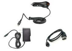 Samsung Galaxy S II Skyrocket (ATT) Premium Combo Pack - Wall Charger + Car Charger + Micro USB Cable Atom LED Keychain Light