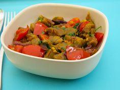 Aubergines au curry sans gluten