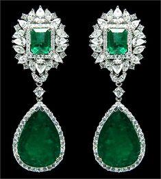 Green Gemstone earrings.