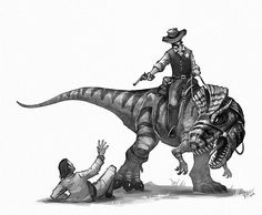 "1,337 Likes, 9 Comments - Shaun Keenan (@shaunmichaelkeenan) on Instagram: ""Wanted dead or alive.. The marshal caught his man. #oldwest #dinosaurs #dinosaur #cryolophosaurus…"""