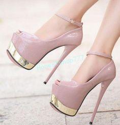 60cf9ac93 Hot Super High Heels Women's Clubwear Shoes Peep Toe Stilettos Platform  Sandals | eBay. Novo Super Salto Alto Feminino Peep Toe Com Salto Agulha de  sapatos ...