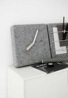 Felt wall clock for Menu Cement Design, Wall Watch, Concrete Cement, Wall Organization, Industrial Design, Home Accessories, Furniture Design, Design Inspiration, Diy Projects