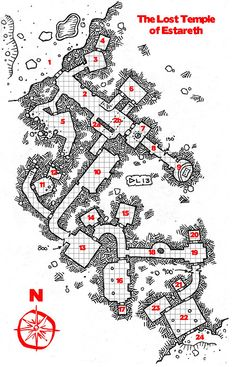The Lost Temple of Estareth w/ PDF download map cartography | Create your own…