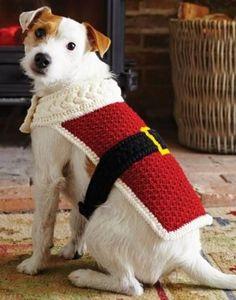 39 New Ideas crochet christmas jumper pattern dog sweaters Crochet Dog Clothes, Crochet Dog Sweater, Dog Crochet, Crochet Stitch, Crochet Animals, Knitting Patterns For Dogs, Crochet Dog Patterns, Christmas Knitting, Christmas Dog
