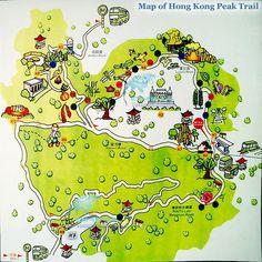 Map of Victoria Peak