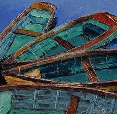Leslie Saeta - I love Leslie. She paints completely with palette knives