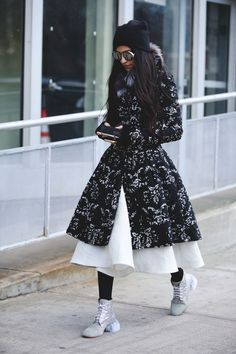 Lessons In Layering From The Streets Of New York City #refinery29  http://www.refinery29.com/2016/02/103173/ny-fashion-week-fall-winter-2016-street-style-pictures#slide-136  Here's proof that piling on the pieces doesn't need to look frumpy....