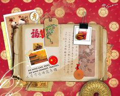 book page 1_Chinese scrapbook by flowery-cookie.deviantart.com on @deviantART