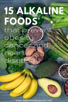 15 Alkaline Foods that Prevent Obesity, Cancer, and Heart Disease Healthy Meals For Two, Healthy Tips, Healthy Choices, Healthy Eating, Healthy Recipes, Healthy Food, Healthy Herbs, Healthy Habits, Natural Cough Remedies