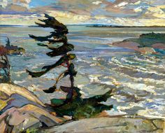 F.H. Varley (1881-1969) Stormy Weather, Georgian Bay, 1921, huile sur toile, 132.6 x 162.8 cm, National Gallery of Canada, Ottawa
