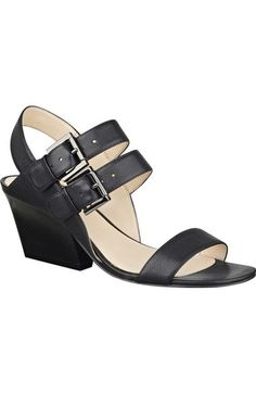 Nine West 'Gadelle' Double Strap Demi Wedge Sandal (Women) available at #Nordstrom