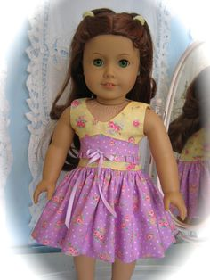 18 American Girl Doll clothes/ Summer dress by MenaBella on Etsy