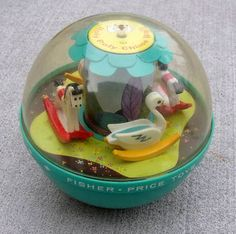 It rolls around and the toys inside of it, rock. I think most children had these 👶🏻 Vintage Fisher Price Toys Jouets Fisher Price, Fisher Price Toys, Vintage Fisher Price, My Childhood Memories, Childhood Toys, Sweet Memories, Panama Red, Retro Toys, Vintage Toys 1970s