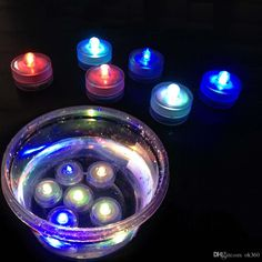 LED Submersible Waterproof Candle Tea Lights Decoration Candle Wedding Party Flickering Flicker Flameless LED Night Light Tea Candles Light Online with $0.8/Piece on Ok360's Store   DHgate.com