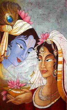 Radha Krishna I Radhe Radhe I Pinned from Dipak Parmar I Hare Krishna, Krishna Radha, Bhagavad Gita, Shiva, Brahma, Avatar, Krishna Painting, Indian Art Paintings, India Art