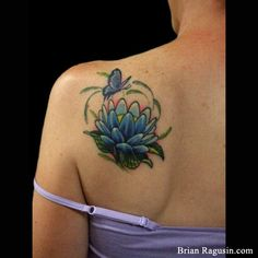 Koi pond lotus lily pad zen water garden tattoo tattoos for Koi pool thornton