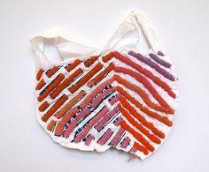 Josh  embroidering plastic bags