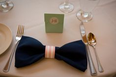 Solely Weddings: Bow Tie Napkin from Wedding Story