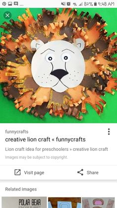 Polar Bear, Teddy Bear, Zoo Crafts, Lion Craft, Craft Images, Preschool, Toys, Creative, Animals
