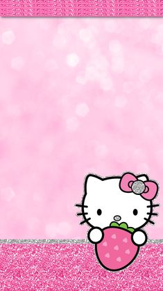 iGlamdroid: Hello Kitty Strawberry Wallpaper