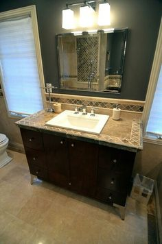 Bathroom counter tile boarder