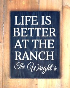 Ranch House Personalized Family Name Farm Signs Ranch Decor Country Gift Life Is…