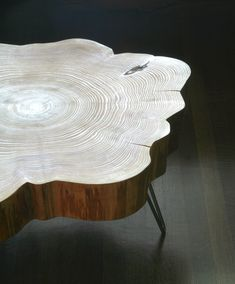 nimbus cloud coffee table  live edge with mid century by birdloft, $800.00