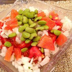 ルビーも入って爽やかサラダ - 12件のもぐもぐ - 枝豆サラダ by mayon3747