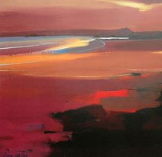 "Beach at Sunset 18"" x15.5"" £110"