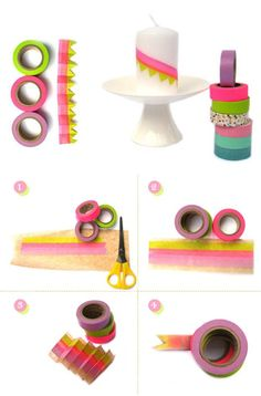 Easy DIY Washi Tape Projects | https://diyprojects.com/100-creative-ways-to-use-washi-tape/