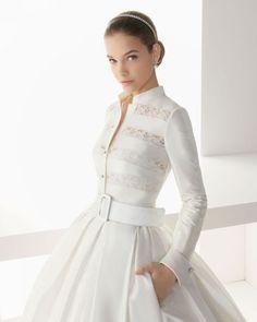 Foto 140 de 209 Modelo Basilea. Catálogo Vestidos de Novia Rosa Clara 2013. | HISPABODAS