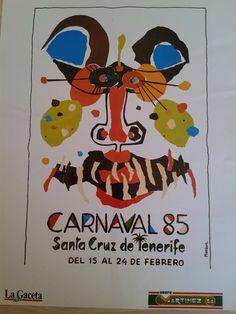 Cartel del Carnaval de Santa Cruz de Tenerife, año 1985