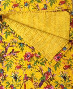 Indian kantha quilt  Queen kantha quilt by VishalHandicrafts, $48.99
