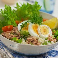 Tonfisksallad med ris