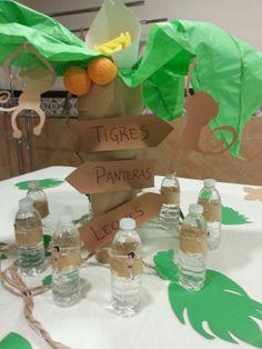 Diseño y decoración de eventos # sevilla# cumpleaños # libro de la selva # centros de mesa