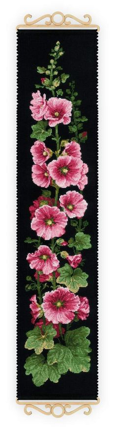 Riolis Mallow Hollyhock bellpull