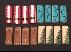 Iced Sugar Cookies, Christmas Sugar Cookies, Christmas Cupcakes, Royal Icing Cookies, Holiday Cookies, Cupcake Cookies, Christmas Food Gifts, Christmas Baking, Cookie Sticks