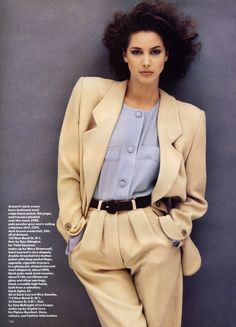 Fashion's Key Points from Vogue UK July 1987 feat Christy Turlington