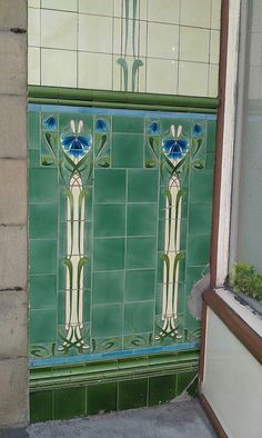 Tiles at Buxton, Derbyshire, England. By #Carrie Red Fox.