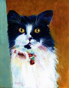 """Tuxedo in My Closet"" - Original Fine Art for Sale - © Pamela Gatens"