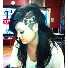Hello Kitty bow haircut