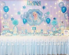 Disney Princess Birthday Party, Princess Birthday Invitations, 2nd Birthday Party Themes, Frozen Themed Birthday Party, Disney Frozen Birthday, Safari Birthday Party, Birthday Parties, Frozen Party Decorations, Birthday Party Decorations