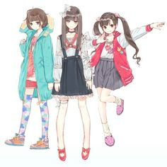 Anime fashion | look different sides of her I think