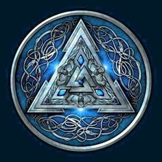 Shop Blue Norse Valknut viking t-shirts designed by NaumaddicArts as well as other viking merchandise at TeePublic. Viking Life, Viking Art, Viking Warrior, Viking Shield, Norse Pagan, Viking Symbols, Norse Mythology, Norse Tattoo, Celtic Tattoos