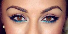 Pop of turquoise. Spring/summer brown eyes