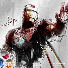 """""""Heroes are made by the paths they choose, not the powers they are graced with."""" - Iron Man Day 53"""