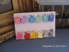 Assortiment de 120 mini étiquettes de prix colorées