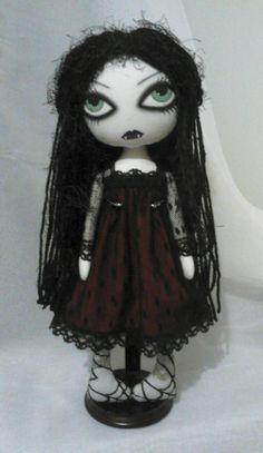 Gothic Vampire Art Rag Doll  Scarlet by ChamberOfDolls on Etsy
