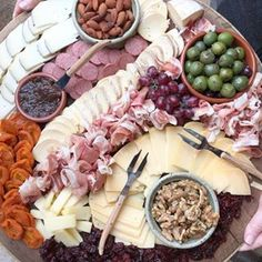 Ultimate cheese plate:  beautiful as well as delicious.