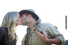 Indiana Jones themed love shoot complete with snakes! | CHECK OUT MORE IDEAS AT WEDDINGPINS.NET | #weddings #engagement #engaged #thequestion #events #forweddings